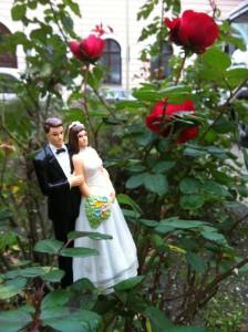 Die letzten Rosen dieses Sommers grüßen verregnet mein Brautpaar. Und der nächste Sommer wird seine Rosen schon auf meine Brautpaare regnen lassen! Ich freue mich drauf!